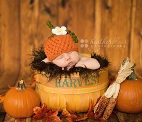 Newborn pumpkin hat